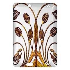 Scroll Gold Floral Design Amazon Kindle Fire HD (2013) Hardshell Case