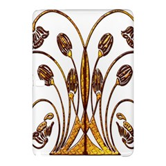 Scroll Gold Floral Design Samsung Galaxy Tab Pro 10 1 Hardshell Case