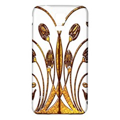 Scroll Gold Floral Design Samsung Galaxy S5 Back Case (white)