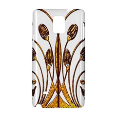 Scroll Gold Floral Design Samsung Galaxy Note 4 Hardshell Case