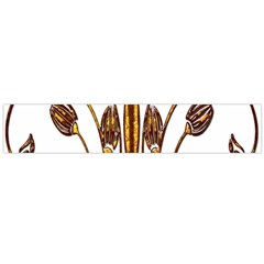 Scroll Gold Floral Design Flano Scarf (large)