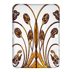 Scroll Gold Floral Design Samsung Galaxy Tab 4 (10 1 ) Hardshell Case