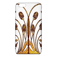 Scroll Gold Floral Design iPhone 6 Plus/6S Plus TPU Case