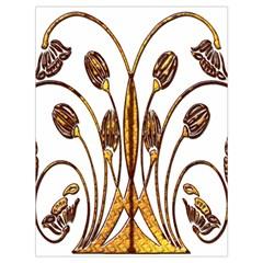 Scroll Gold Floral Design Drawstring Bag (large)