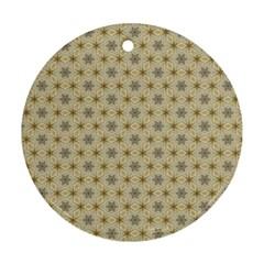 Star Basket Pattern Basket Pattern Ornament (round)