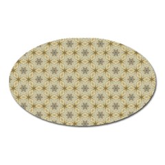 Star Basket Pattern Basket Pattern Oval Magnet