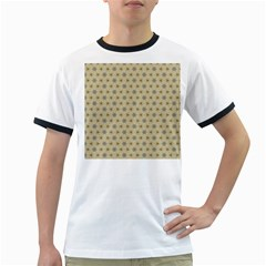 Star Basket Pattern Basket Pattern Ringer T Shirts