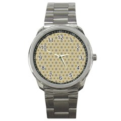 Star Basket Pattern Basket Pattern Sport Metal Watch