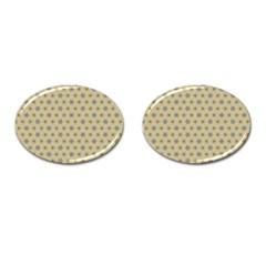 Star Basket Pattern Basket Pattern Cufflinks (Oval)