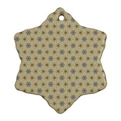 Star Basket Pattern Basket Pattern Snowflake Ornament (Two Sides)