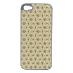 Star Basket Pattern Basket Pattern Apple iPhone 5 Case (Silver)