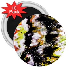Canvas Acrylic Digital Design 3  Magnets (10 Pack)