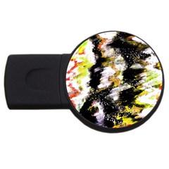 Canvas Acrylic Digital Design USB Flash Drive Round (2 GB)