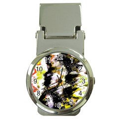 Canvas Acrylic Digital Design Money Clip Watches