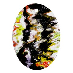 Canvas Acrylic Digital Design Oval Ornament (two Sides)