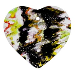 Canvas Acrylic Digital Design Heart Ornament (Two Sides)