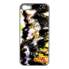 Canvas Acrylic Digital Design Apple Iphone 5 Case (silver)