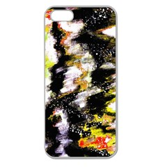 Canvas Acrylic Digital Design Apple Seamless Iphone 5 Case (clear)