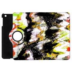 Canvas Acrylic Digital Design Apple iPad Mini Flip 360 Case