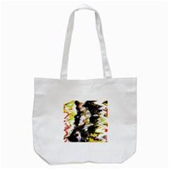 Canvas Acrylic Digital Design Tote Bag (white)