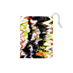 Canvas Acrylic Digital Design Drawstring Pouches (Small)