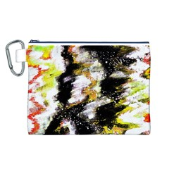 Canvas Acrylic Digital Design Canvas Cosmetic Bag (L)
