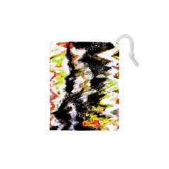 Canvas Acrylic Digital Design Drawstring Pouches (XS)