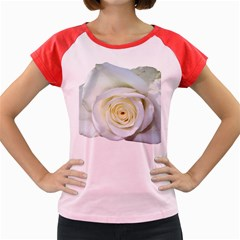 Flower White Rose Lying Women s Cap Sleeve T-Shirt