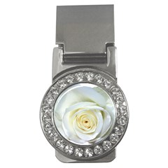 Flower White Rose Lying Money Clips (CZ)