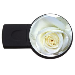 Flower White Rose Lying USB Flash Drive Round (1 GB)