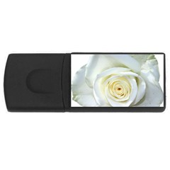 Flower White Rose Lying USB Flash Drive Rectangular (2 GB)