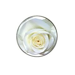 Flower White Rose Lying Hat Clip Ball Marker