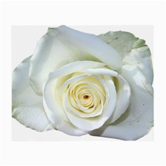 Flower White Rose Lying Small Glasses Cloth