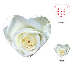 Flower White Rose Lying Playing Cards (Heart)