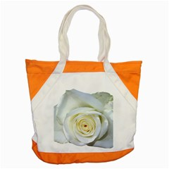 Flower White Rose Lying Accent Tote Bag