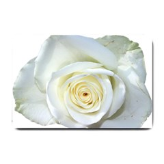Flower White Rose Lying Small Doormat