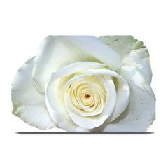 Flower White Rose Lying Plate Mats