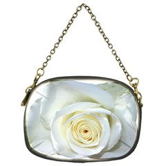 Flower White Rose Lying Chain Purses (one Side)