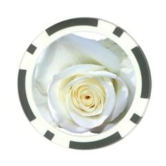 Flower White Rose Lying Poker Chip Card Guard (10 pack)