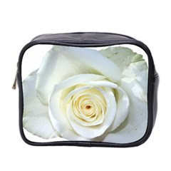 Flower White Rose Lying Mini Toiletries Bag 2 Side