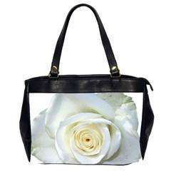 Flower White Rose Lying Office Handbags (2 Sides)