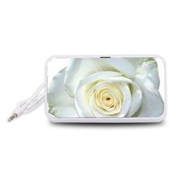 Flower White Rose Lying Portable Speaker (White)