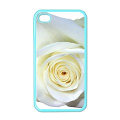 Flower White Rose Lying Apple iPhone 4 Case (Color)