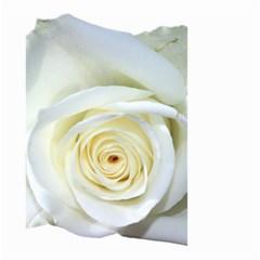 Flower White Rose Lying Small Garden Flag (two Sides)