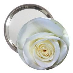 Flower White Rose Lying 3  Handbag Mirrors