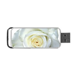 Flower White Rose Lying Portable Usb Flash (one Side)