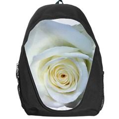 Flower White Rose Lying Backpack Bag