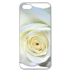 Flower White Rose Lying Apple Seamless Iphone 5 Case (clear)