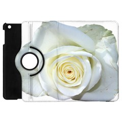 Flower White Rose Lying Apple iPad Mini Flip 360 Case