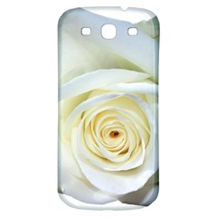 Flower White Rose Lying Samsung Galaxy S3 S III Classic Hardshell Back Case